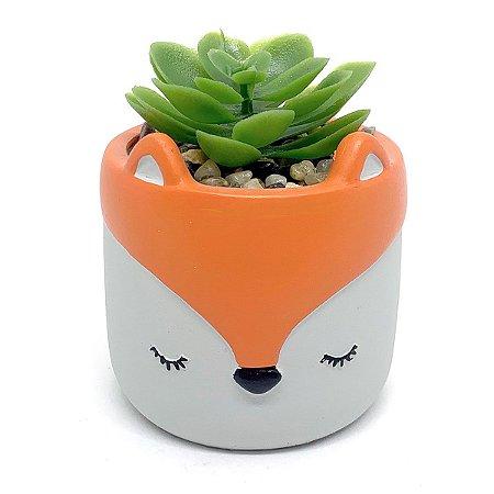 Vasinho Decorativo Raposa planta suculenta artificial