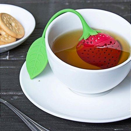 Infusor de Chá Morango em silicone