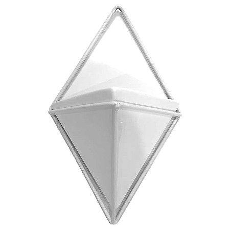 Vaso Cachepot com suporte de parede Triângulo Suculenta