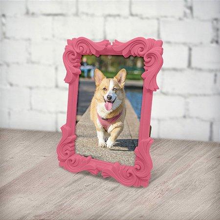 Porta Retrato moldura Flor - rosa claro