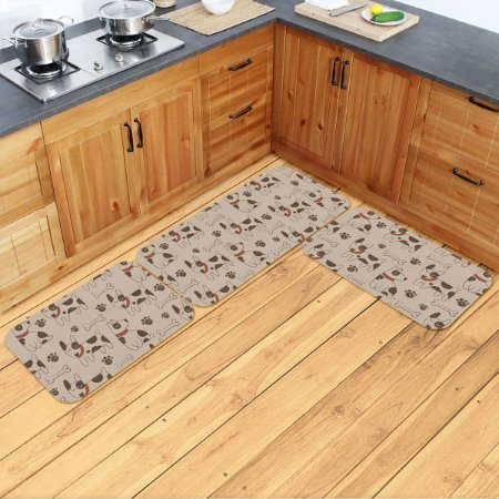 Kit Tapetes de Cozinha Cachorrinhos - 3 peças