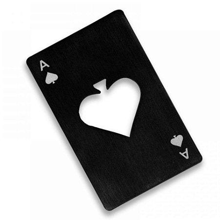 Abridor de Garrafa Carta de baralho Poker Card Black