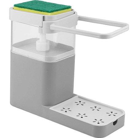 Dispenser Multifuncional Porta Detergente e Bucha