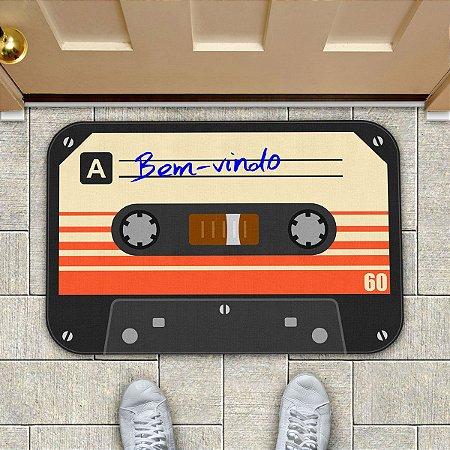 Tapete Fita Cassete K7 Bem-Vindo Retrô Vintage