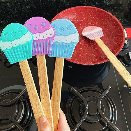 Espátula de Madeira Cupcake em silicone