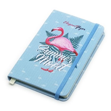 Caderneta de Anotação Flamingo Summer - azul
