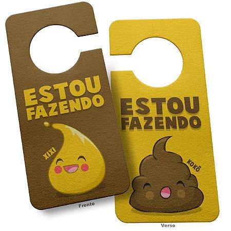 Aviso de Porta Ecológico para Banheiro Aviso desnecessário