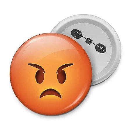 Botton Emoticon - Emoji Bravo