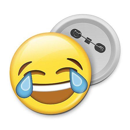 Botton Emoticon - Emoji Chorando de rir
