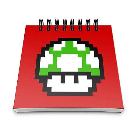 Bloco de Anotações Cogumelo Pixel Get a Life