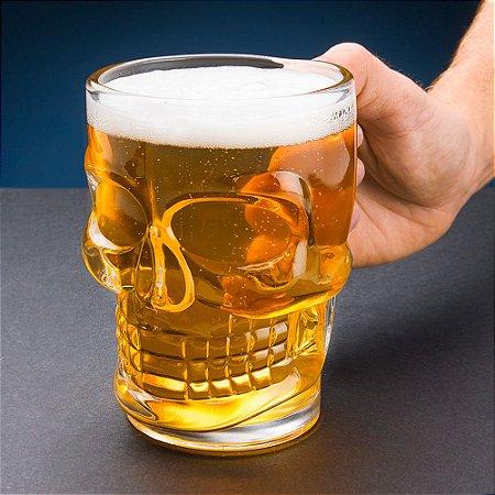 Canecão Caveira para Chopp Cerveja - 500 ml
