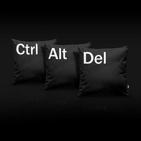 Jogo Almofadas Ctrl + Alt + Del - preta