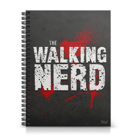 Caderno Universitário Capa Dura 1x1 - The Walking Nerd
