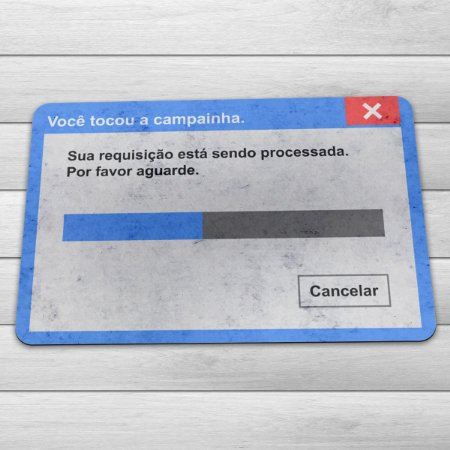 Capacho Eco Slim 3mm Janela de Mensagem Campainha