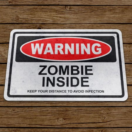 Capacho Eco Slim 3mm Warning Zombie Inside