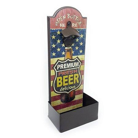 Abridor de Garrafa de Parede Premium Fresh Beer