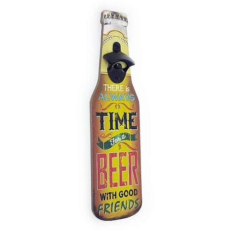 Abridor de Garrafa de Parede Time for a Beer