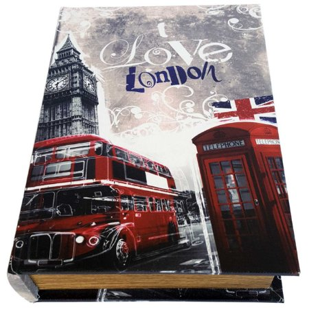 Caixa Livro Decorativa Love London - 25 x 18 cm