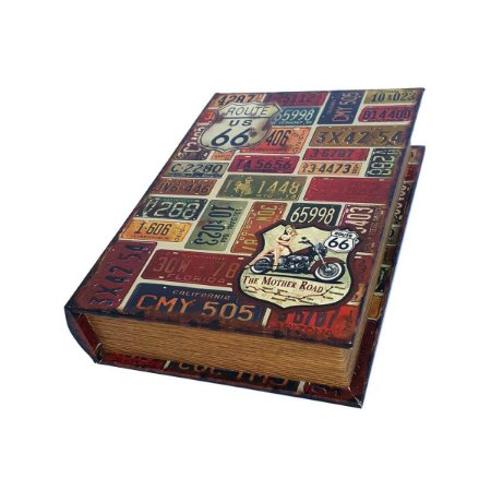 Caixinha Livro Decorativa Route 66 The Mother Road - 18 x 13 cm