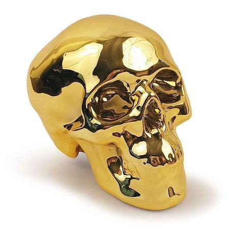 Cofre Crânio - dourado