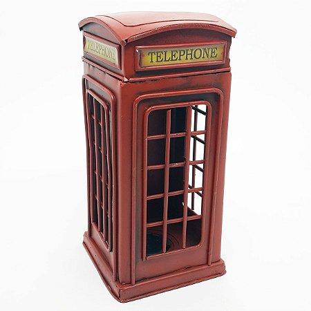 Cofre Cabine Telefônica Londres - 20 x 10 cm