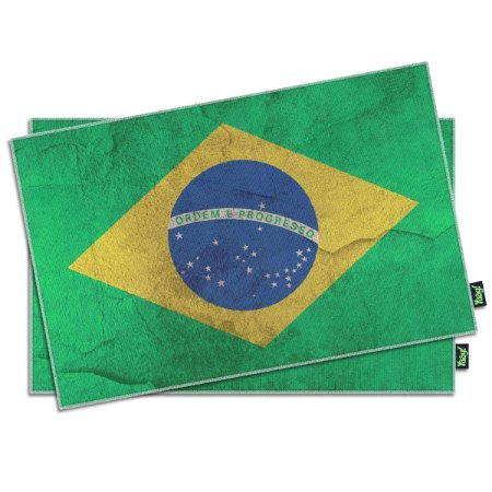 Jogo Americano Bandeira do Brasil - 2 peças