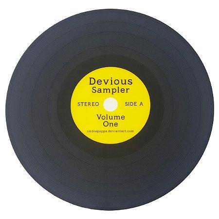 Lugar Americano Disco de Vinil Devious Sampler - amarelo