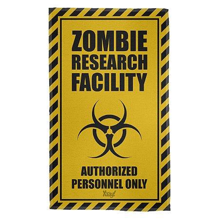 Pano Multiuso em Microfibra Zombie Research Facility