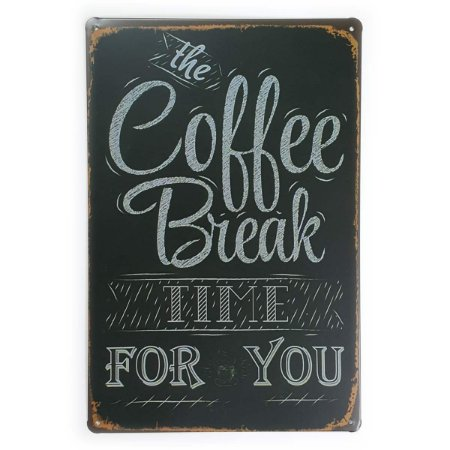 Placa de Metal The Coffee Break - 30 x 20 cm