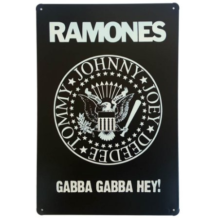 Placa de Metal Decorativa Ramones - 30 x 20 cm