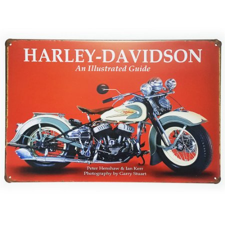 Placa de Metal Decorativa Harley Davidson Guide