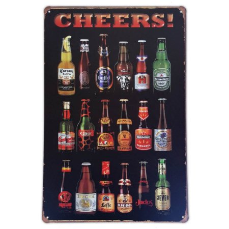 Placa de metal decorativa Retrô Cheers 2