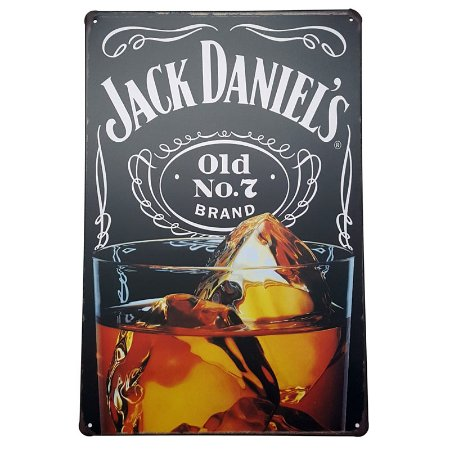 Placa de Metal Decorativa Jack Daniel
