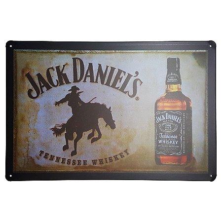 Placa de Metal Decorativa Jack Daniel's Cowboy