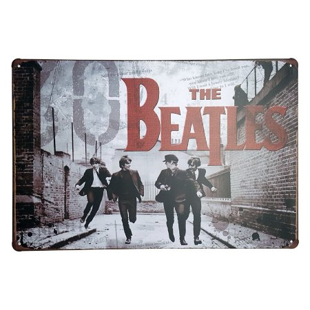 Placa de Metal Decorativa Beatles