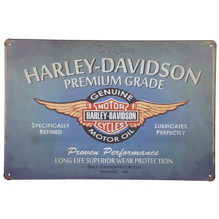 Placa de Metal Harley Finest Quality - 30 x 20 cm