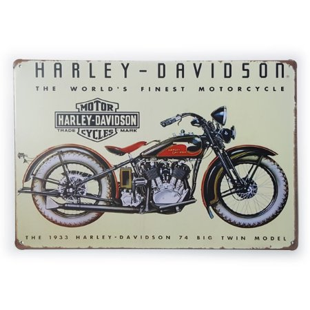 Placa de Metal Harley-Davidson The World's Finest Moto - 30 x 20 cm