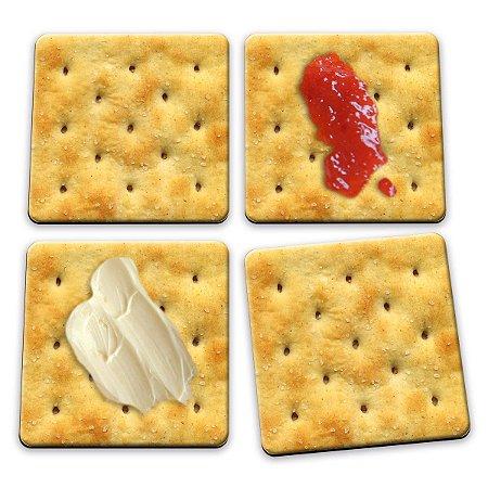 Porta Copos Bolacha Cracker