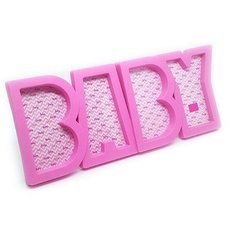 Porta Retrato 4 fotos BABY - rosa