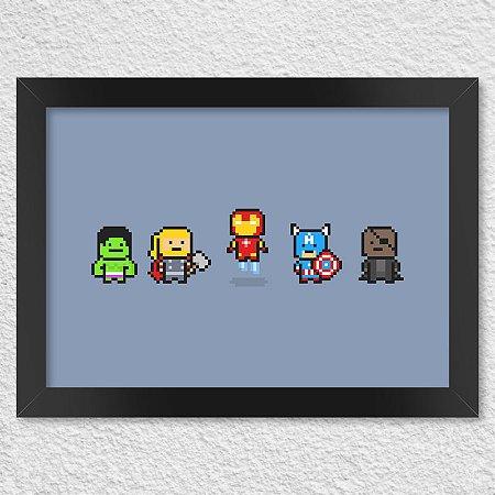 Poster com Moldura Pixelvengers