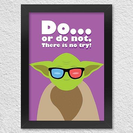 Poster com Moldura Geek Side - Mestre