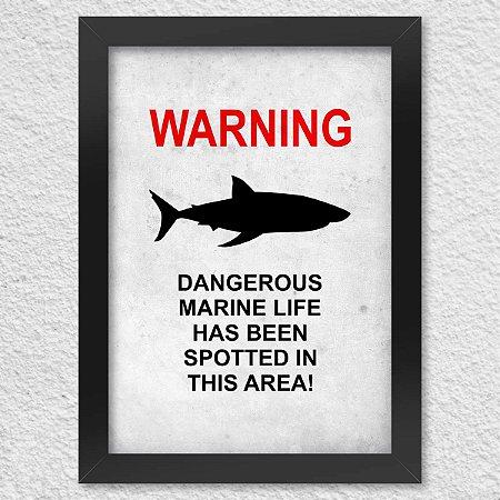 Poster com Moldura Dangerous Marine Life