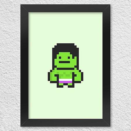 Poster com Moldura PixelHulk