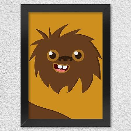 Poster com Moldura Geek Side Faces - Woks