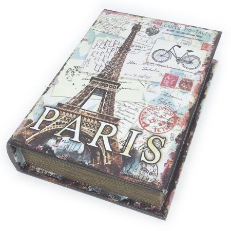 Caixa Livro Decorativa Torre Eiffel Paris - 25 x 18 cm