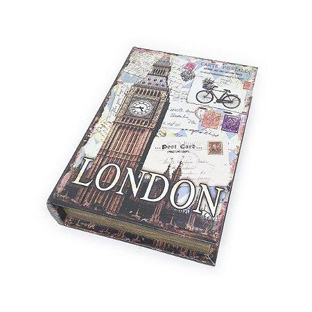 Caixinha Livro Decorativa London Big Ben - 18 x 13 cm