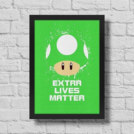Quadro A3 Cogumelo Extra Lives Matter - 30 x 42 cm