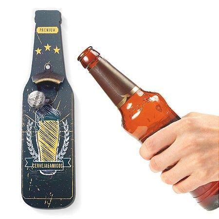 Abridor de Garrafa de Parede Cerveja e Amigos