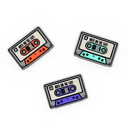 Imã de Geladeira Fitas Cassete - 3 unidades