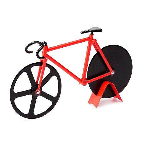 Cortador de Pizza Bicicleta - vermelho